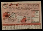 1958 Topps #229  Frank Zupo  Back Thumbnail
