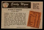 1955 Bowman #38  Early Wynn  Back Thumbnail