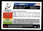 2006 Topps #160  Travis Hafner  Back Thumbnail