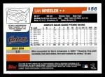 2006 Topps #156  Dan Wheeler  Back Thumbnail