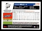 2006 Topps #170  Vernon Wells  Back Thumbnail