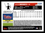 2006 Topps #139  Jason Michaels  Back Thumbnail