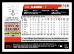 2006 Topps #146  Matt Clement  Back Thumbnail