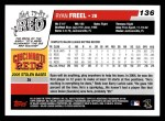 2006 Topps #136  Ryan Freel  Back Thumbnail