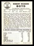1960 Leaf #13  Bob Boyd  Back Thumbnail