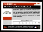 2006 Topps #247   -  Eric Chavez Golden Glove Back Thumbnail