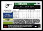 2006 Topps #242  Felix Hernandez  Back Thumbnail
