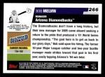 2006 Topps #266  Bob Melvin  Back Thumbnail