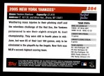 2006 Topps #284   New York Yankees Team Back Thumbnail