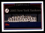 2006 Topps #284   New York Yankees Team Front Thumbnail