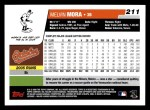 2006 Topps #211  Melvin Mora  Back Thumbnail