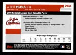 2006 Topps #263   -  Albert Pujols NL Most Valuable Player Back Thumbnail