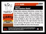 2006 Topps #289  Felipe Alou  Back Thumbnail