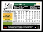 2006 Topps #219  Mark Ellis  Back Thumbnail