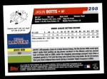 2006 Topps #298  Jason Botts  Back Thumbnail