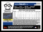 2006 Topps #233  Jason Phillips  Back Thumbnail