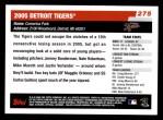 2006 Topps #275   Detroit Tigers Team Back Thumbnail