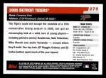 2006 Topps #275   Detroit Tigers Team Back Thumbnail