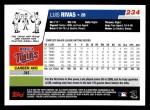 2006 Topps #234  Luis Rivas  Back Thumbnail