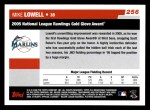 2006 Topps #256   -  Mike Lowell Golden Glove Award Back Thumbnail