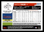 2006 Topps #224  Bartolo Colon  Back Thumbnail