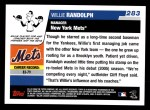 2006 Topps #283  Willie Randolph  Back Thumbnail