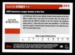 2006 Topps #264   -  Huston Street AL Rookie of the Year Back Thumbnail