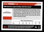 2006 Topps #244   -  Mark Teixeira Golden Glove Award Back Thumbnail
