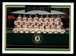 2006 Topps #285   Oakland Athletics Team Front Thumbnail