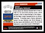 2006 Topps #295  Frank Robinson  Back Thumbnail