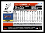 2006 Topps #210  Preston Wilson  Back Thumbnail