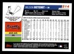 2006 Topps #214  Wilson Betemit  Back Thumbnail