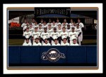 2006 Topps #281   Milwaukee Brewers Team Front Thumbnail