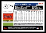 2006 Topps #345  Andruw Jones  Back Thumbnail