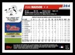 2006 Topps #364  Ryan Madson  Back Thumbnail