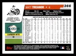 2006 Topps #366  Matt Treanor  Back Thumbnail