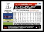 2006 Topps #332  Orlando Cabrera  Back Thumbnail
