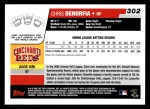 2006 Topps #302   -  Chris Denorfia Rookie Card Back Thumbnail