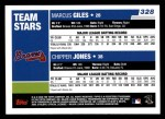 2006 Topps #328   -  Marcus Giles / Chipper Jones Team Stars Back Thumbnail