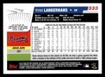 2006 Topps #333  Ryan Langerhans  Back Thumbnail