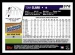 2006 Topps #378  Tony Clark  Back Thumbnail