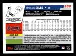2006 Topps #380  Marcus Giles  Back Thumbnail
