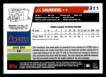 2006 Topps #311   -  Joe Saunders Rookie Card Back Thumbnail