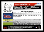 2006 Topps #306   -  Danny Sandoval Rookie Card Back Thumbnail