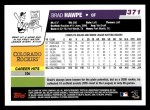 2006 Topps #371  Brad Hawpe  Back Thumbnail