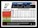 2006 Topps #365  Aramis Ramirez  Back Thumbnail