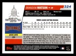 2006 Topps #324   -  Brandon Watson Rookie Card Back Thumbnail