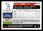 2006 Topps #337  Michael Young  Back Thumbnail