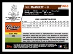 2006 Topps #325   -  Paul McAnulty Rookie Card Back Thumbnail