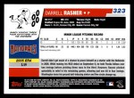 2006 Topps #323   -  Darrell Rasner Rookie Card Back Thumbnail